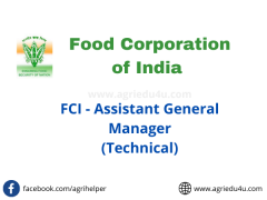 food corporation of india recruitment agriculture students